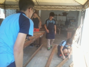 Building the Panels at the School